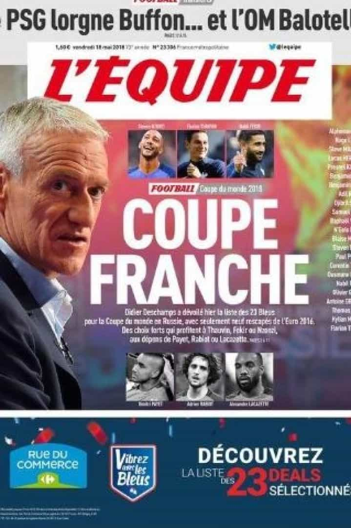 Imprensa internacional: As despedidas de Buffon e Griezmann