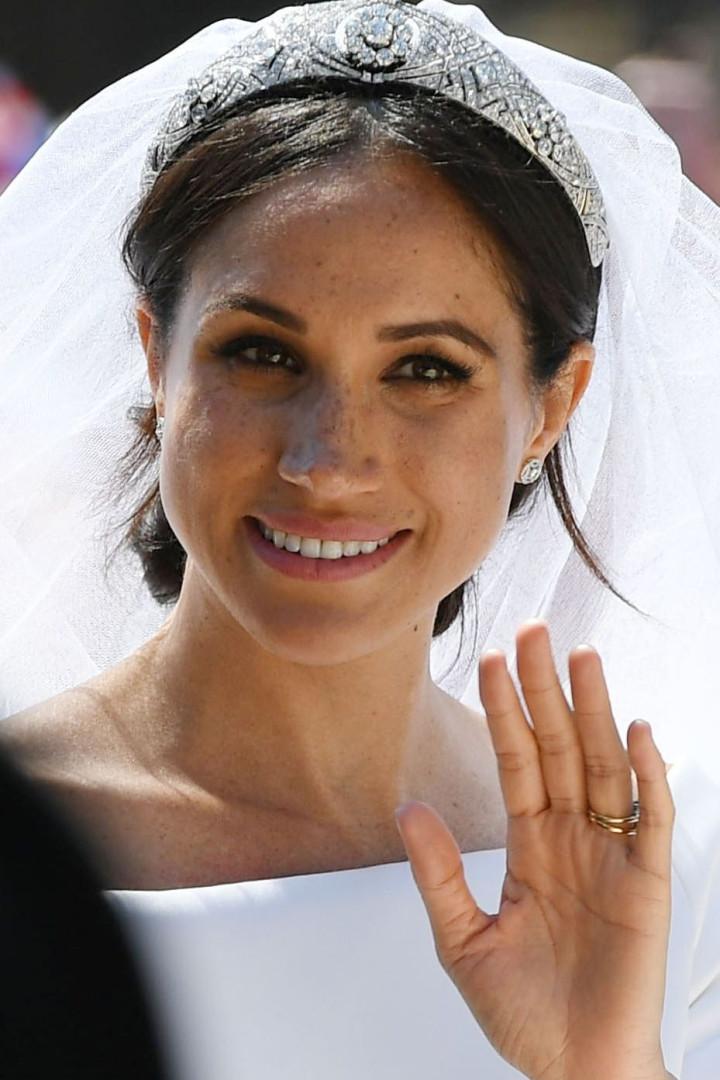 Meghan Markle usou tiara com diamante de 1983