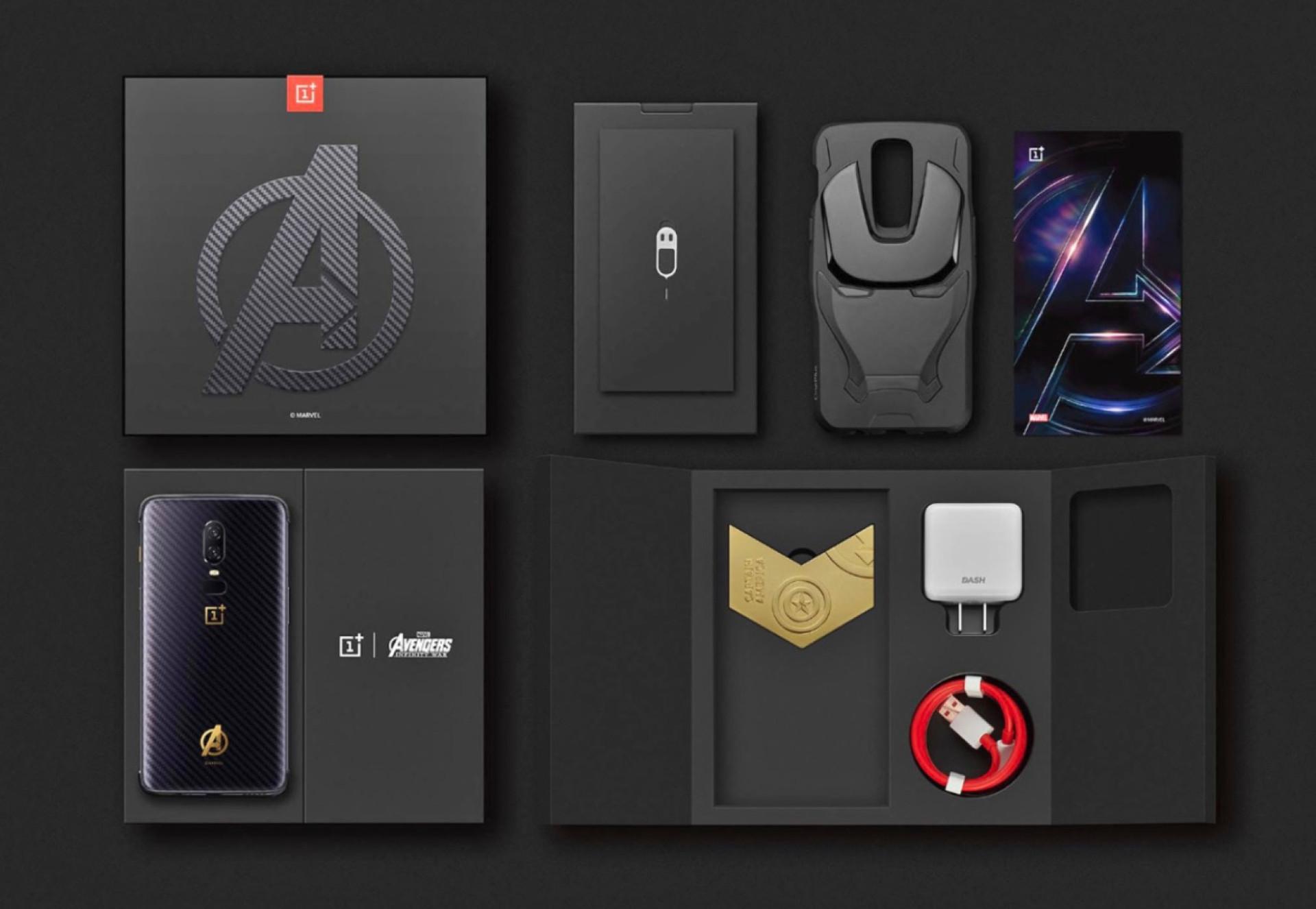 Eis a edição 'Avengers' do OnePlus 6