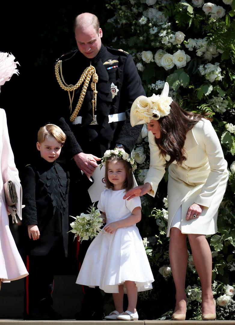 Príncipe George rompeu a tradição no casamento real
