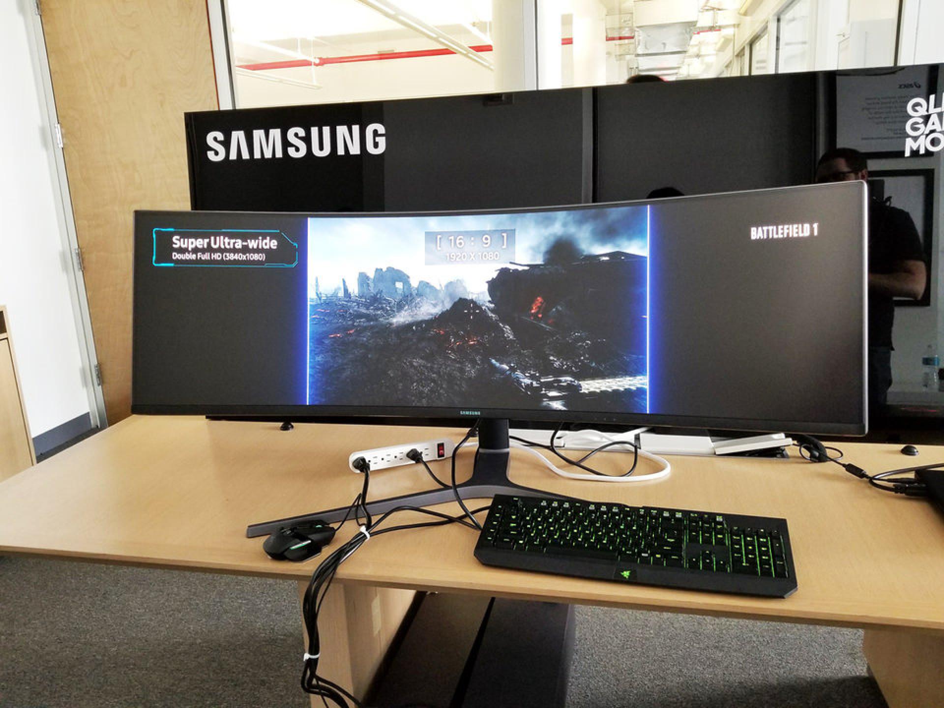 O novo monitor curvo da Samsung é algo que nunca viu