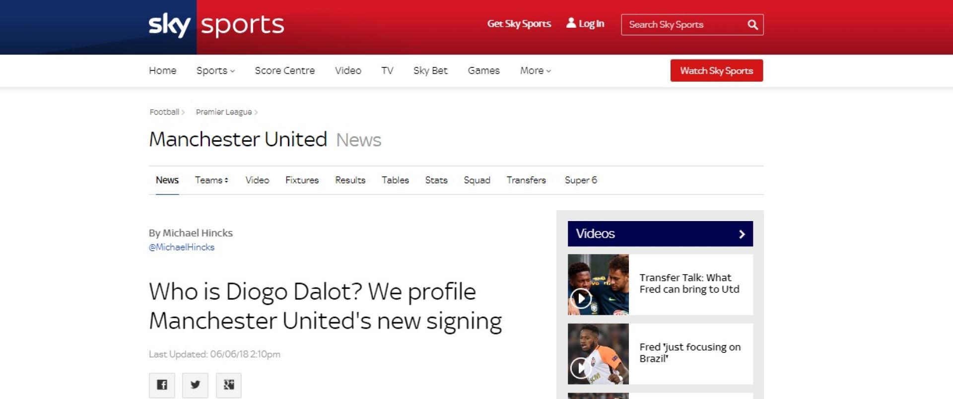 Imprensa internacional rendida ao 'menino' luso do Manchester United