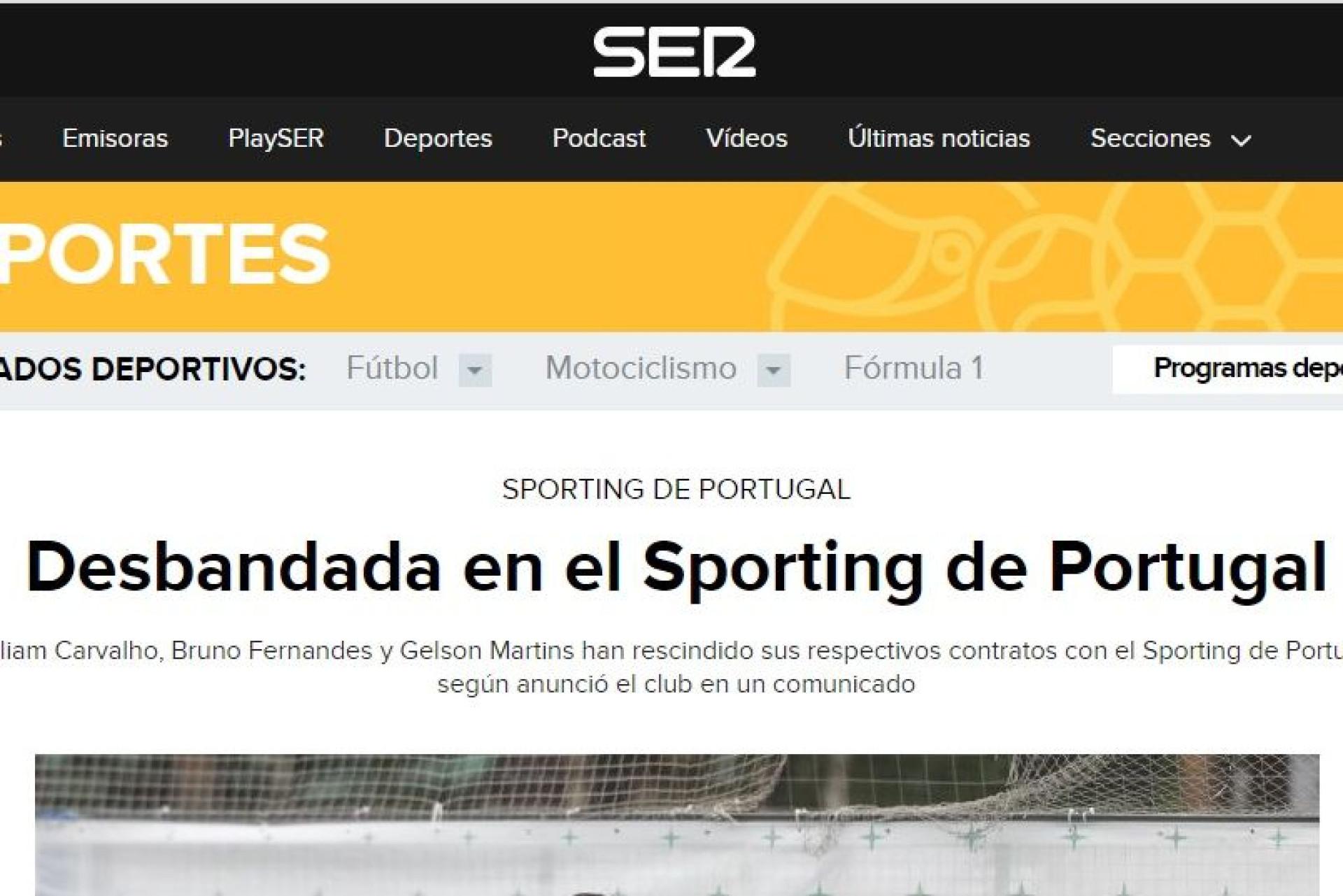 """""""Debandada em Alvalade"""": Imprensa internacional ligada ao """"caos"""" leonino"""
