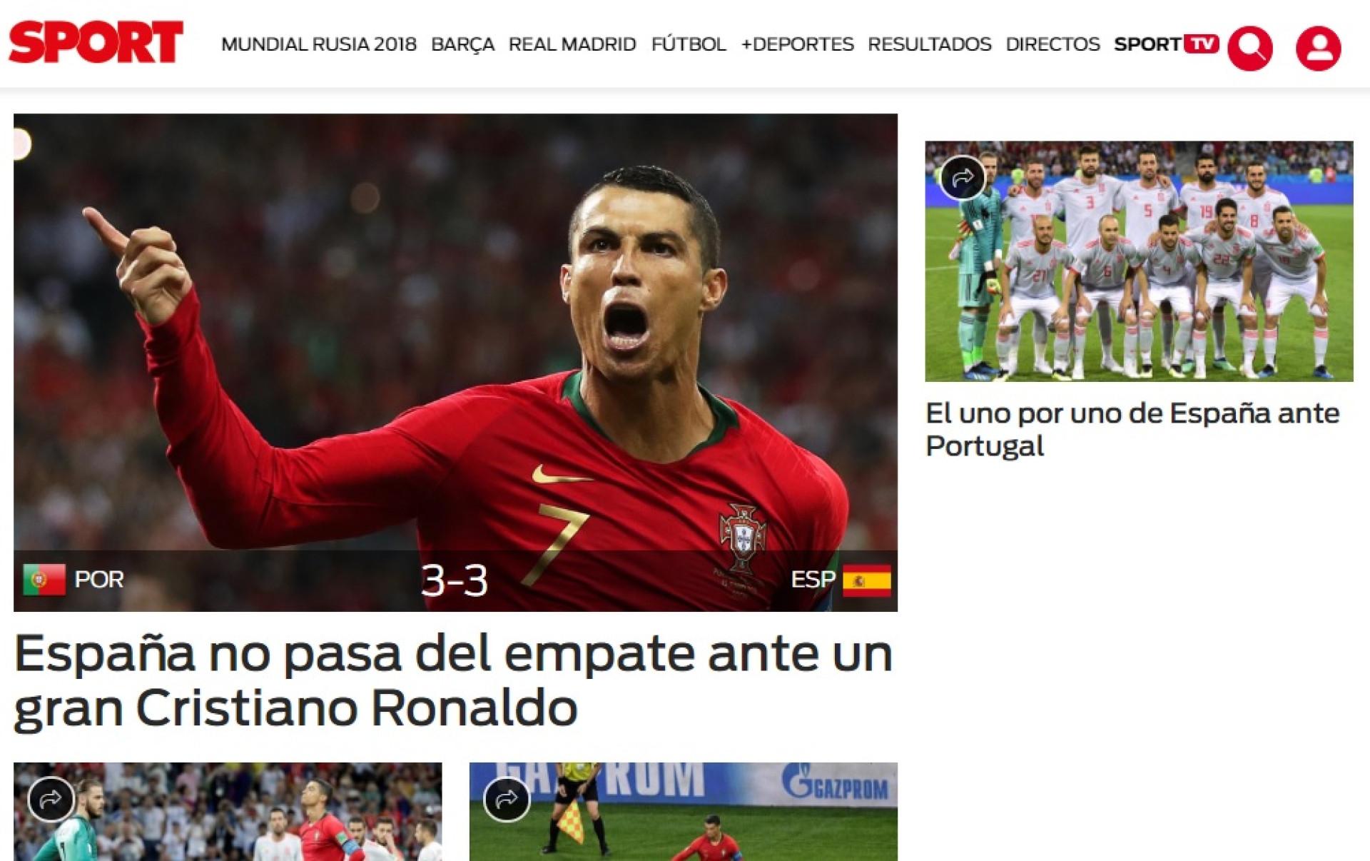 """O que dizem os espanhóis: Um Ronaldo de """"aço"""" que """"vale por três"""""""