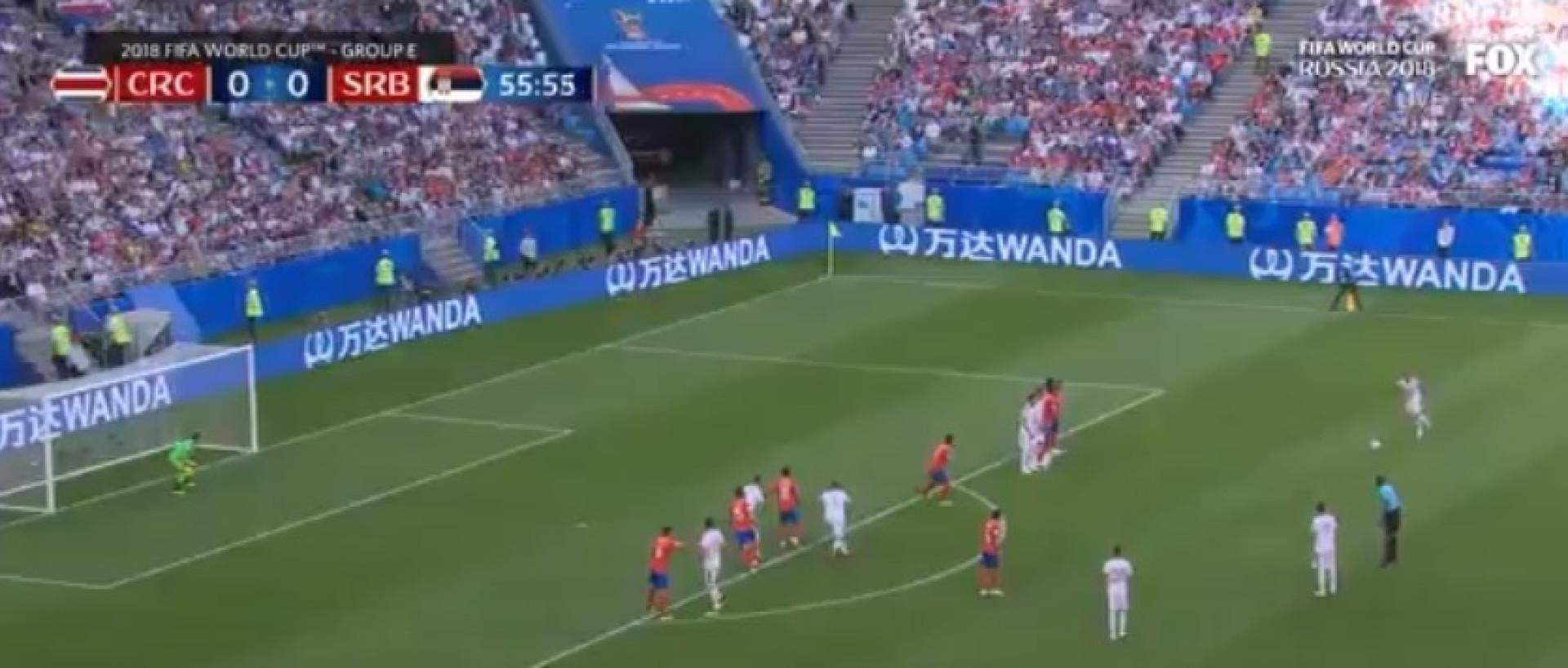 Kolarov inspirou-se em Ronaldo e fez este golaço de livre