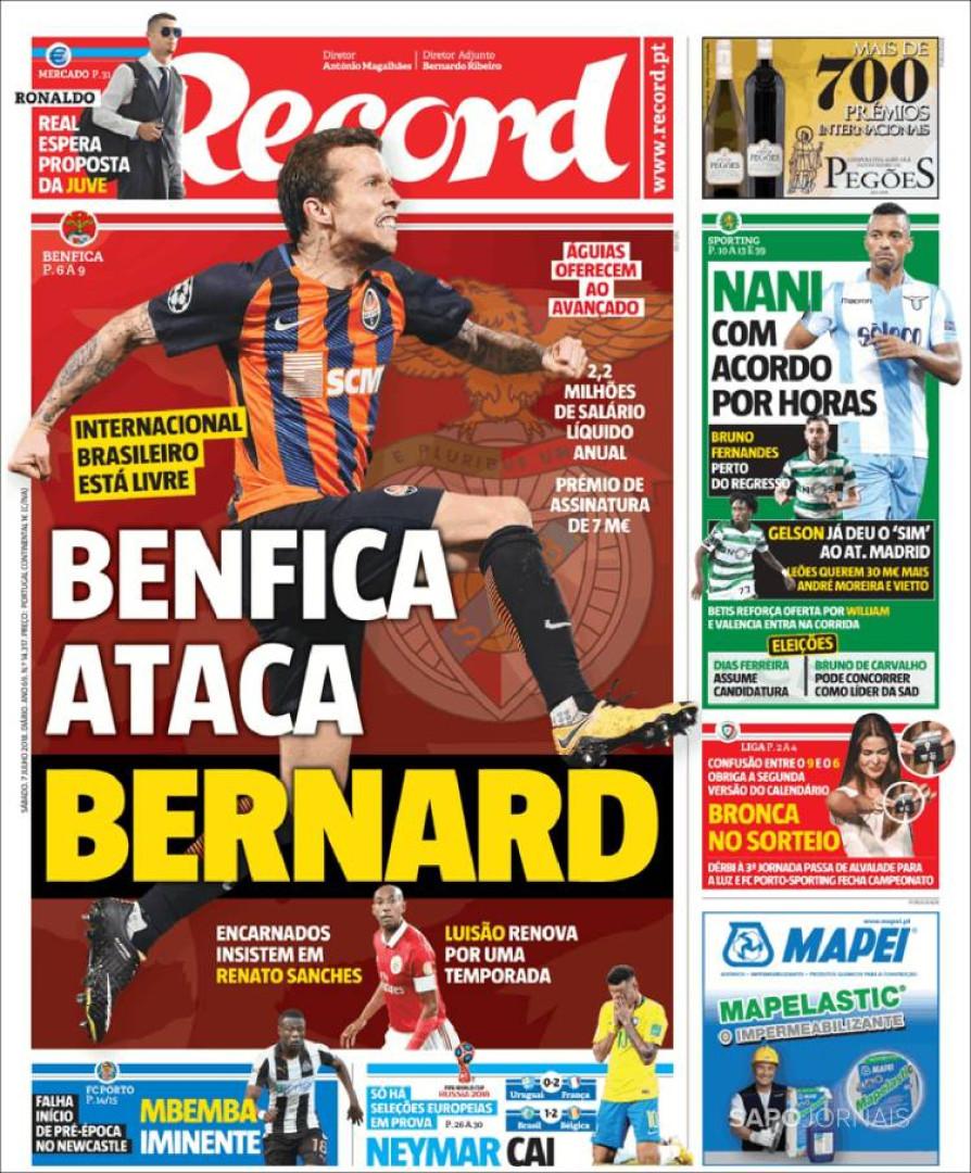 Queda do Brasil acompanhada pela 'fome' de mercado de Benfica e FC Porto