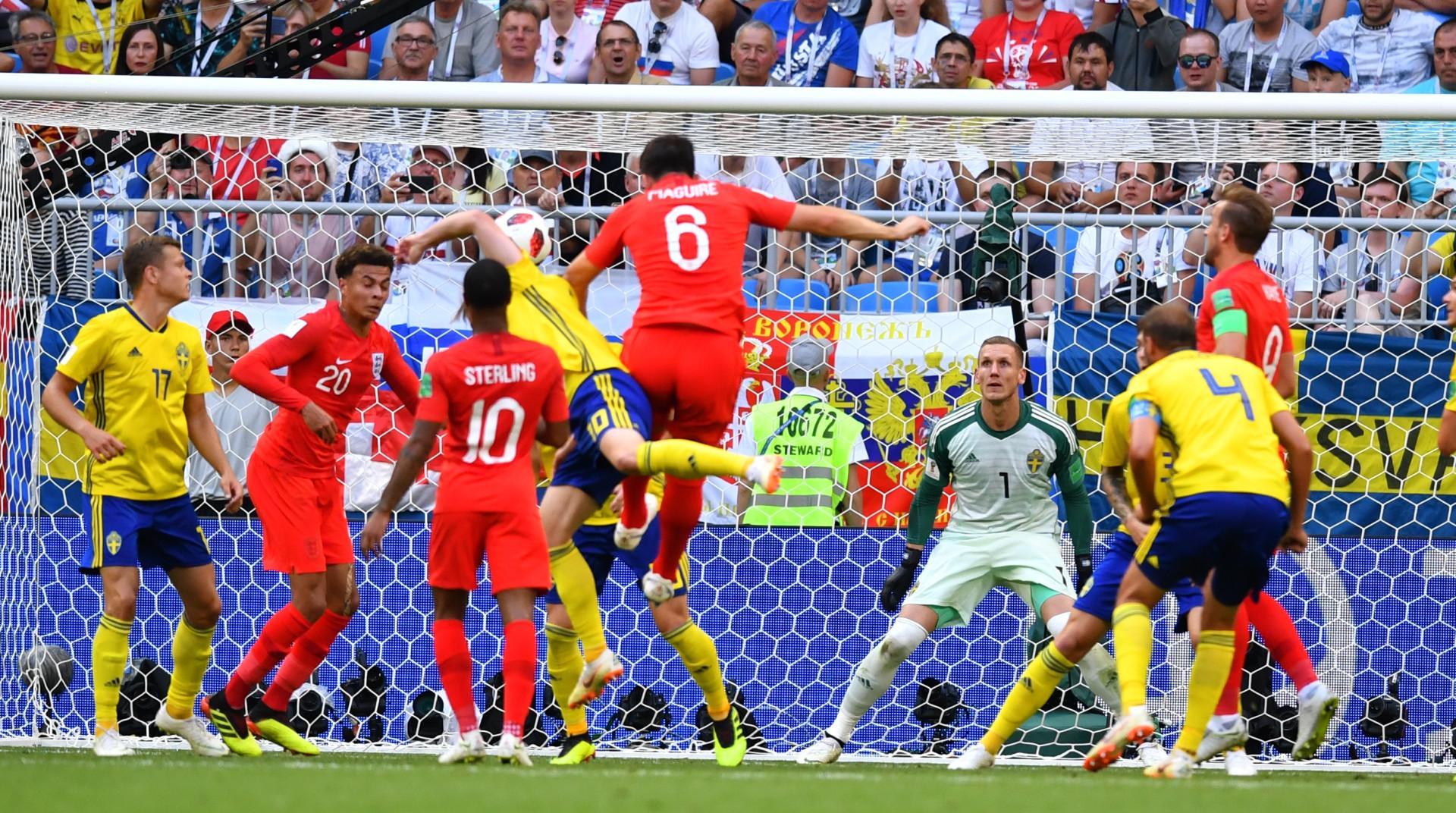 'Bang'! Cabeçada triunfal de Maguire fez 'explodir' o marcador na Rússia