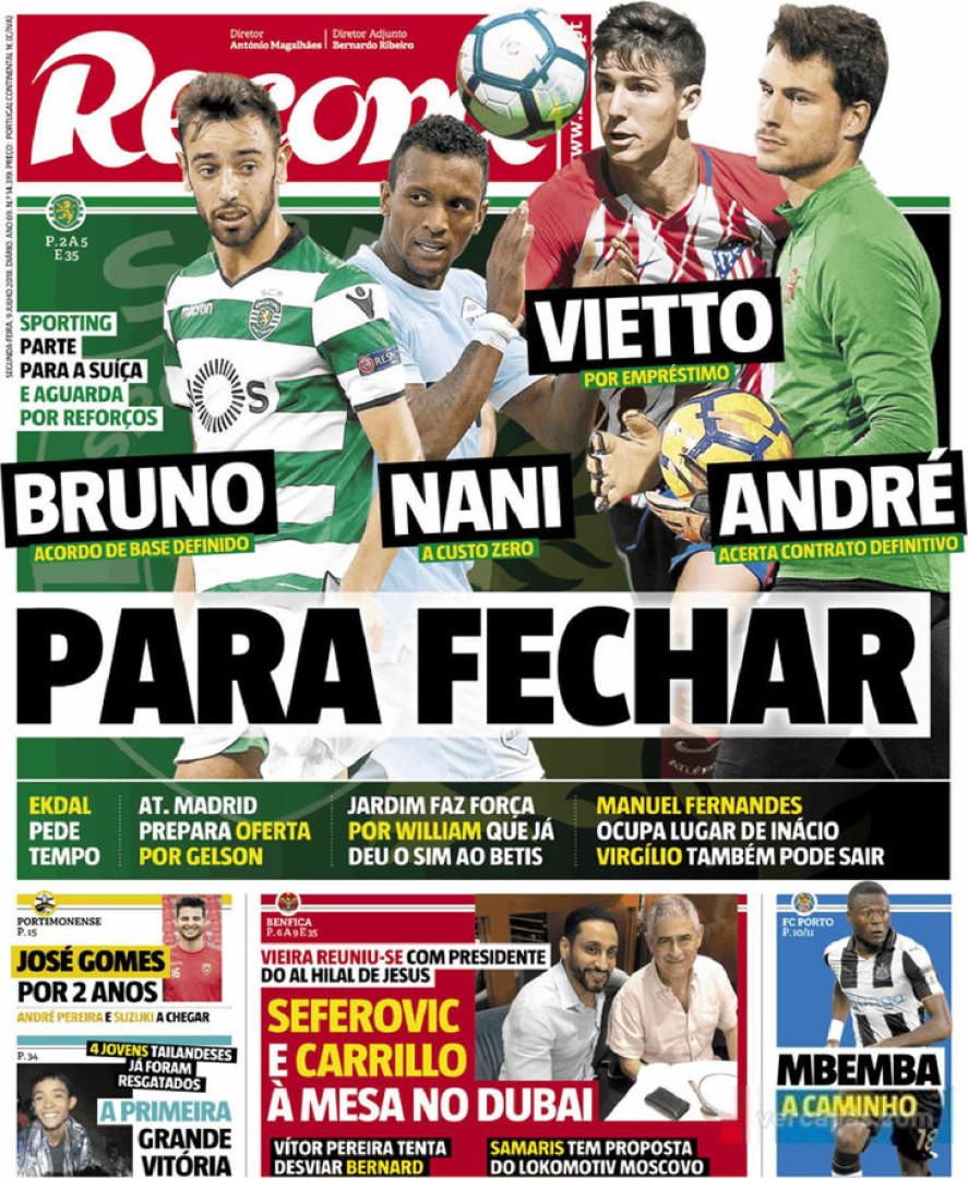 Capas: Bruno Fernandes e Maxi são 'reforços'