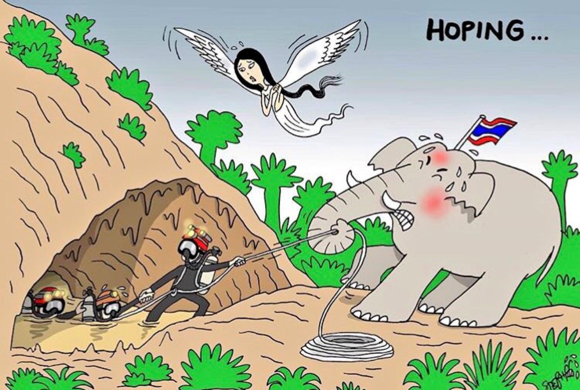Os heróis da Tailândia são os de sempre: Os que vão ajudar