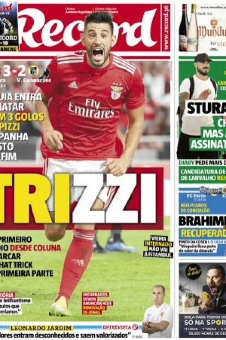 Por cá: O hat-trick de Pizzi e a estreia do 'campeão' na Liga