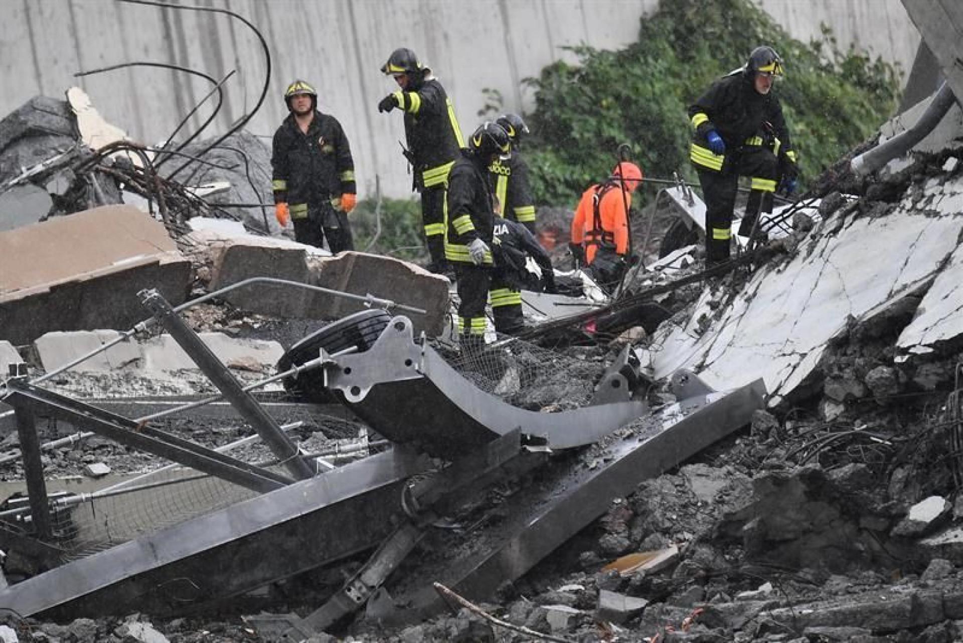 Prossegue resgate em Génova. Imagens mostram dimensão do acidente