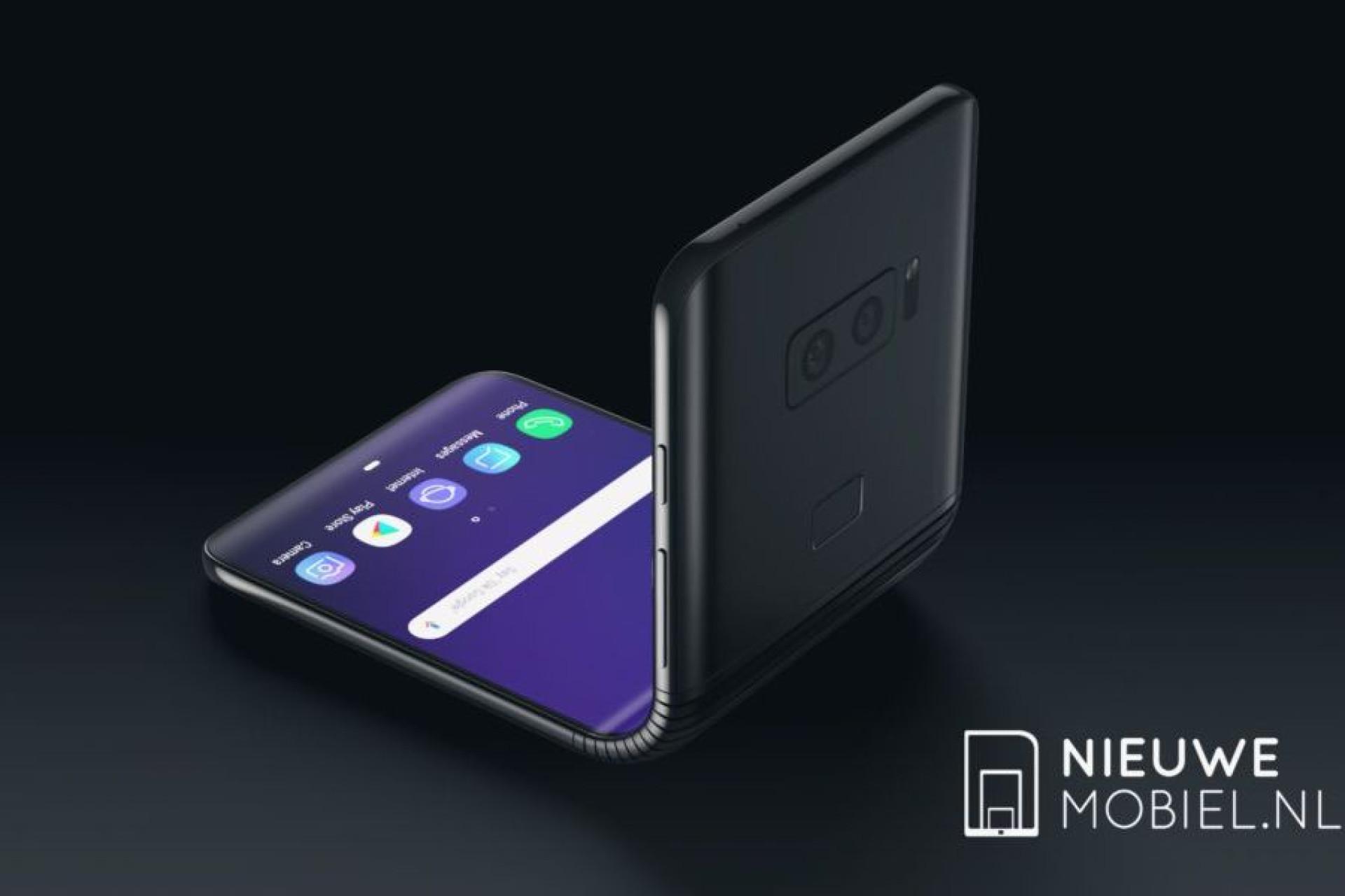 Smartphone dobrável da Samsung representado em novo 'concept'