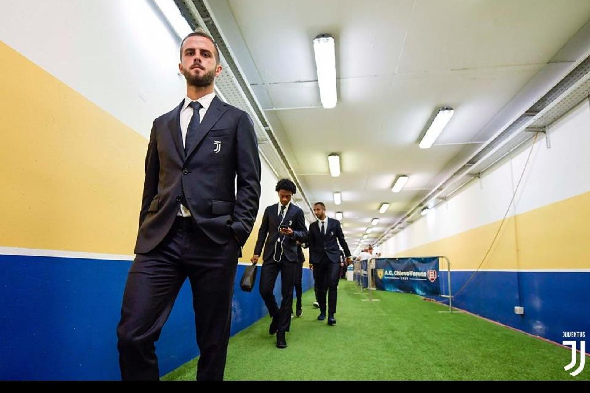 Assim foi a chegada de Ronaldo e companhia ao estádio do Chievo