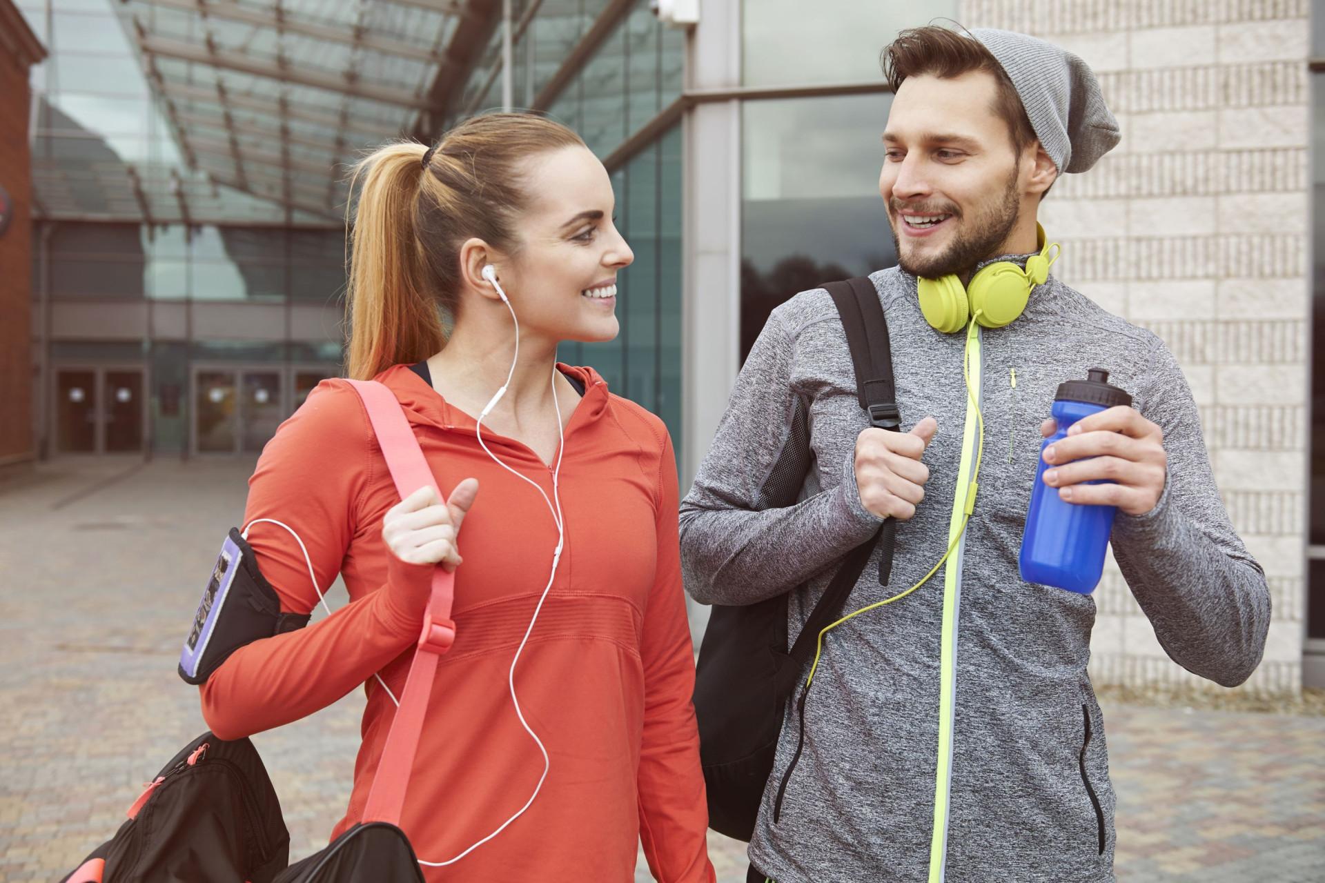 Tem tudo o que precisa para treinar no ginásio?