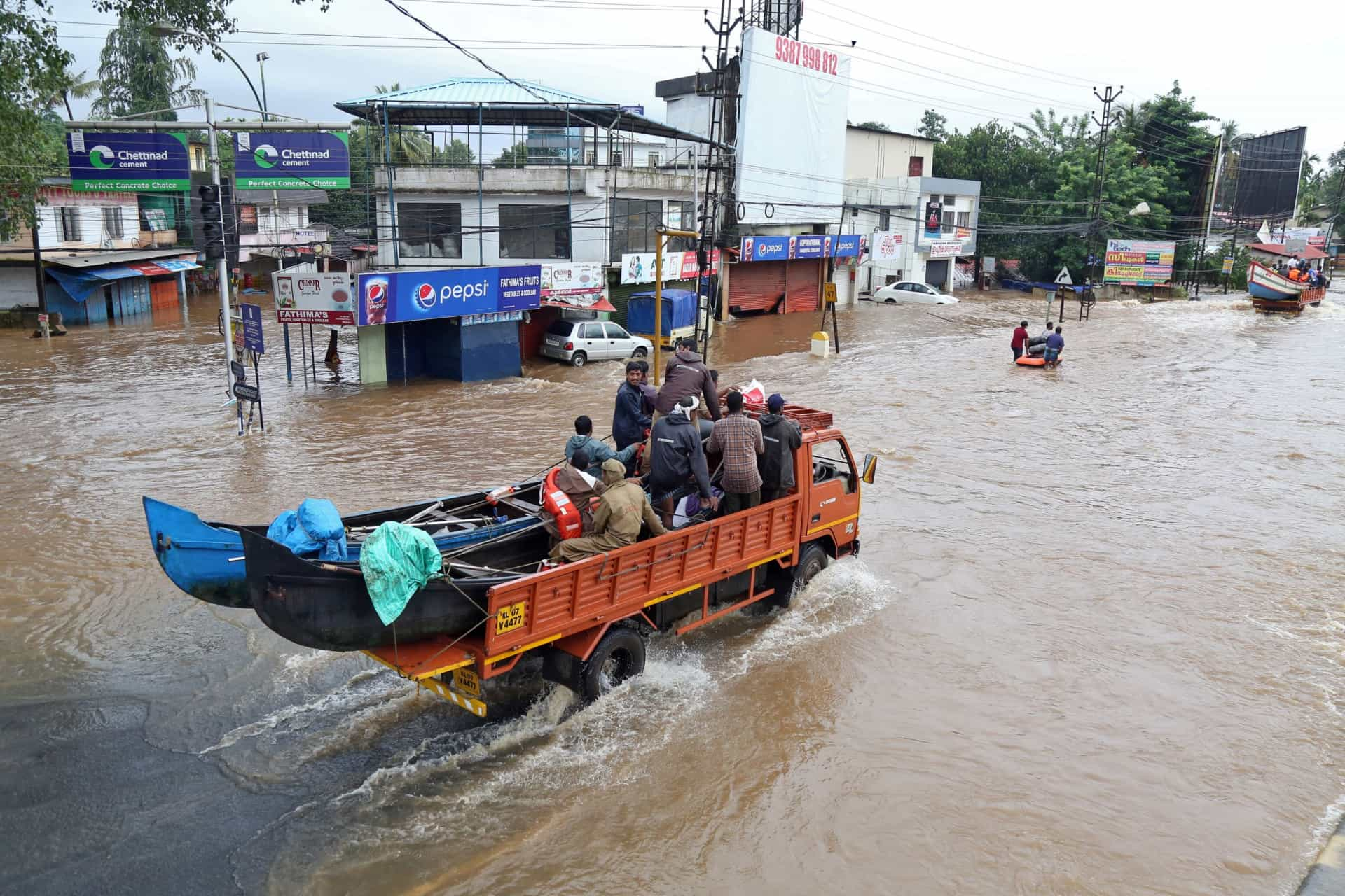 Chuvas, inundações e deslizamentos de terra. O dilúvio em Kerala