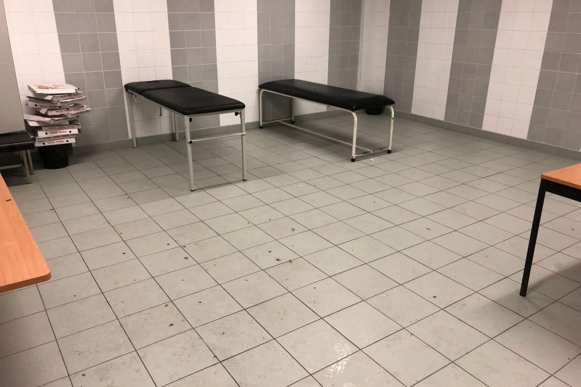 Foi assim que os jogadores do Feirense deixaram o balneário em Guimarães