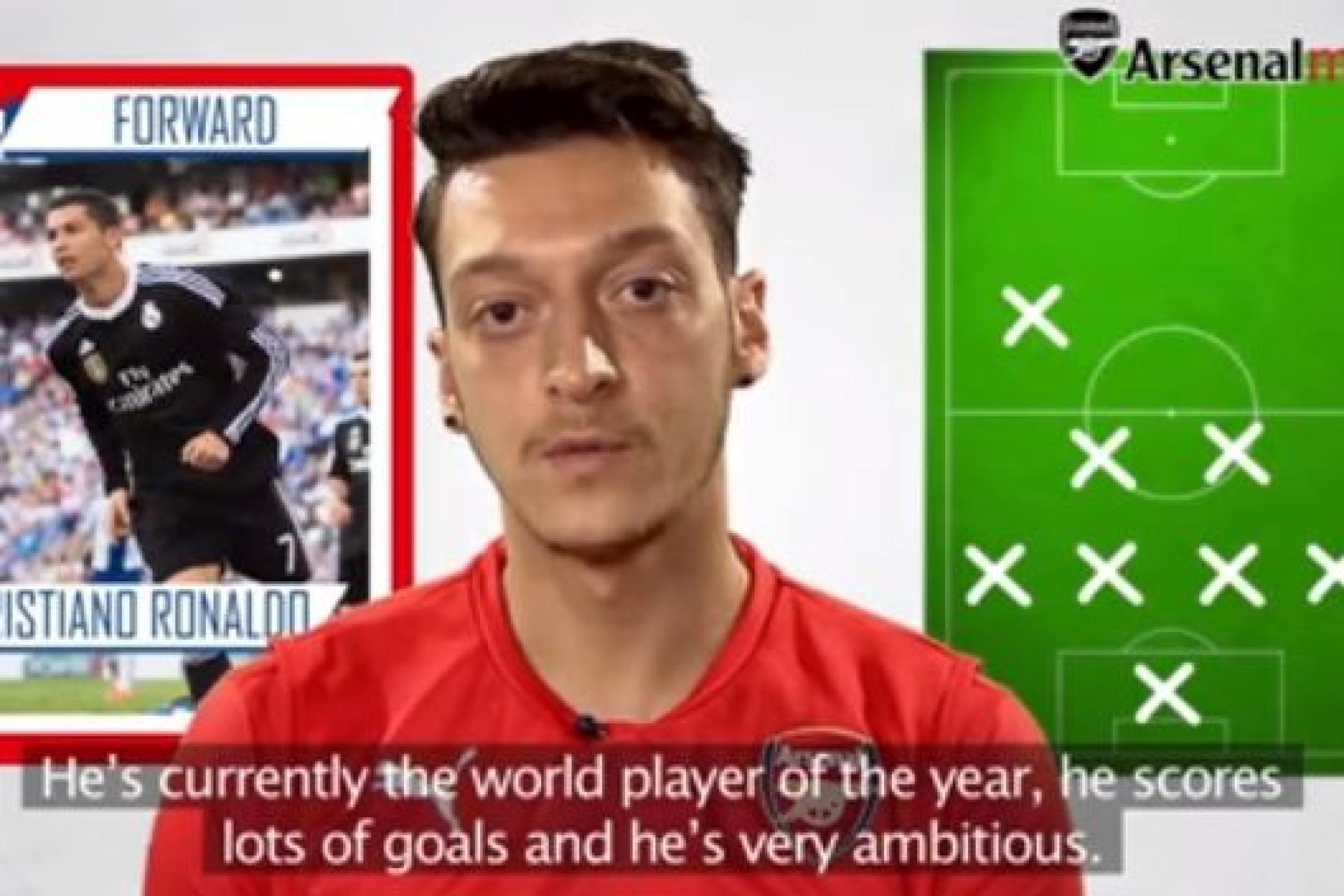 Ozil elege o melhor onze com quem jogou. Consegue advinhar os craques?