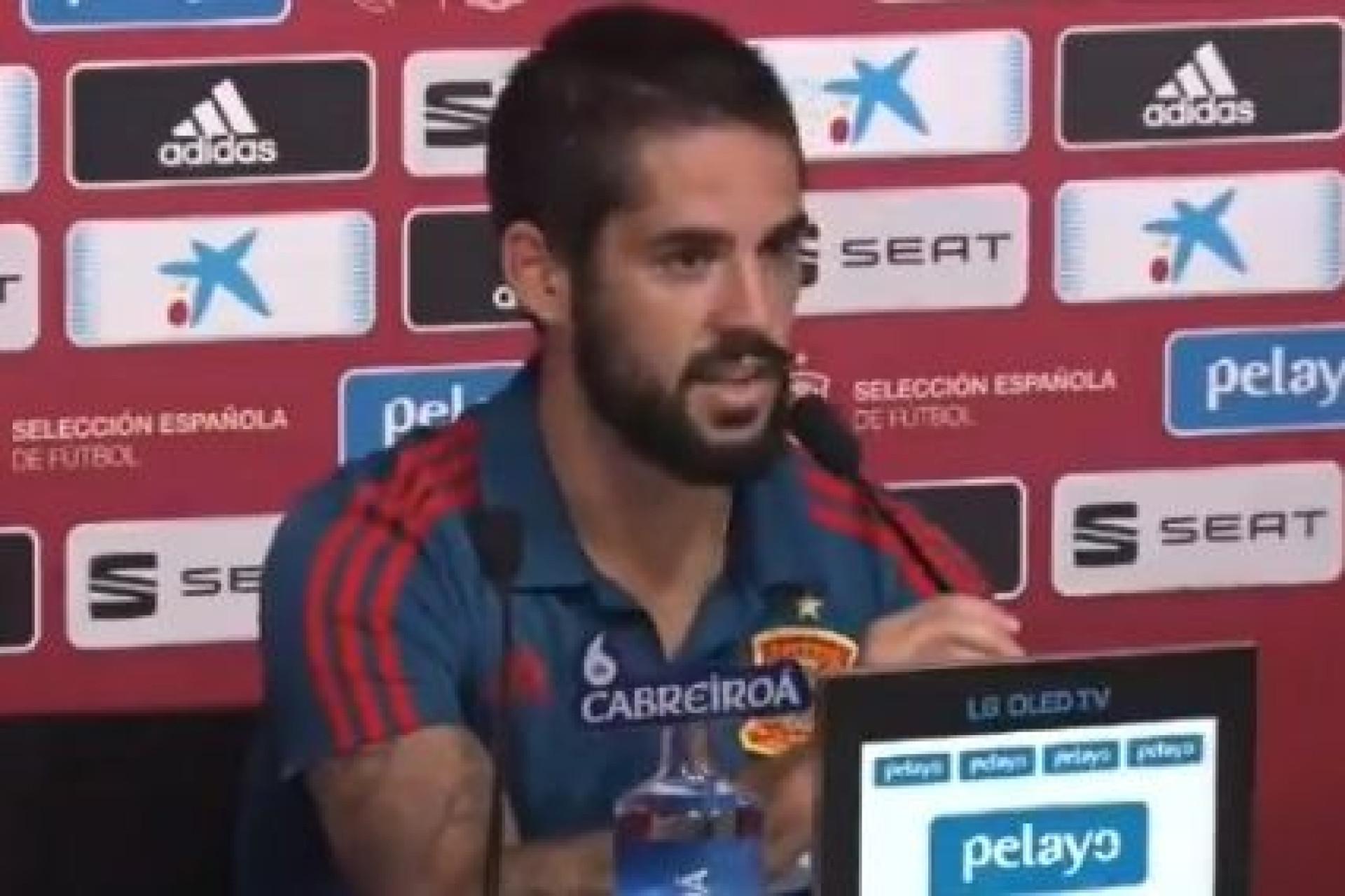 A dura resposta de Isco a um jornalista espanhol