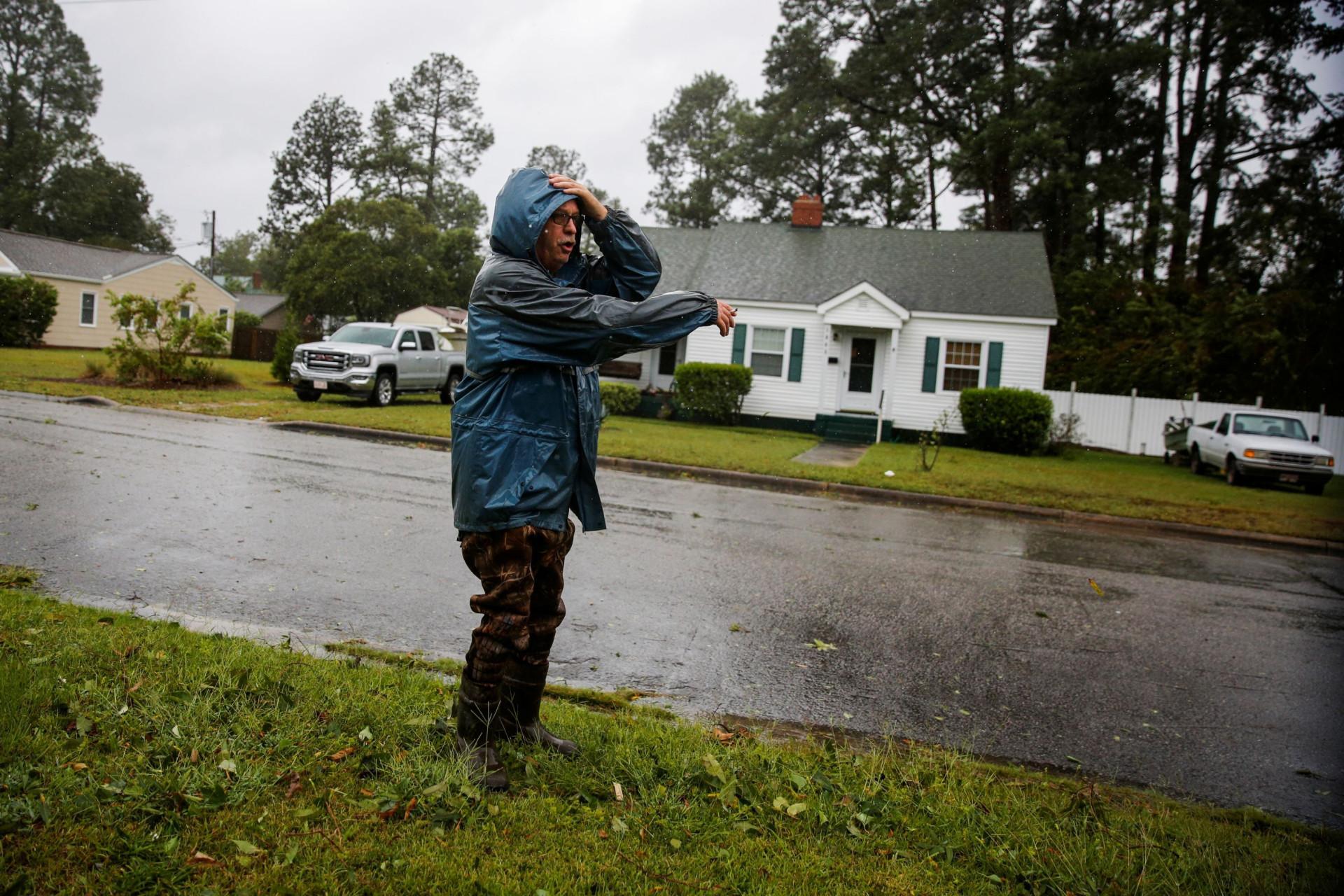 Olho do furacão. As imagens do Florence a chegar à Carolina do Norte