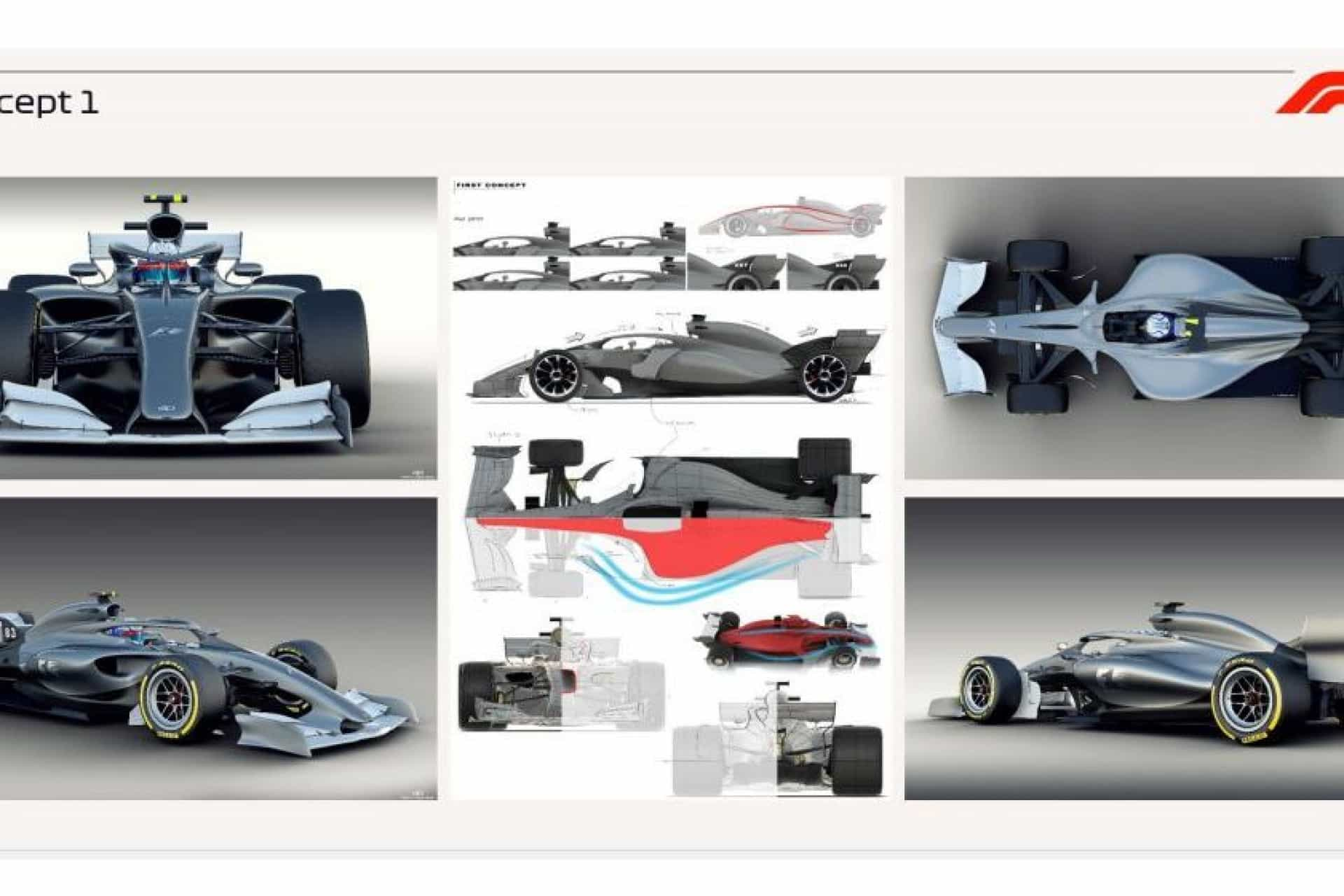 Revelação: F1 desvenda como serão os monolugares em 2021