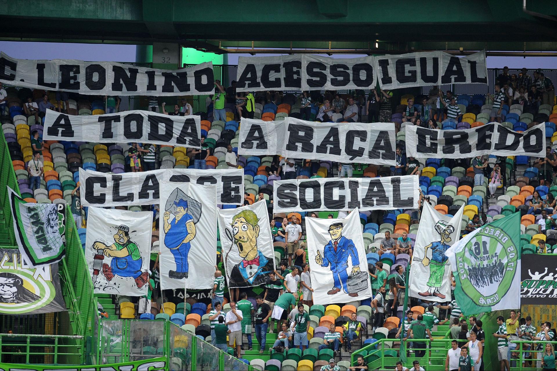 Bancadas de Alvalade deixaram recados internos e ao rival Benfica