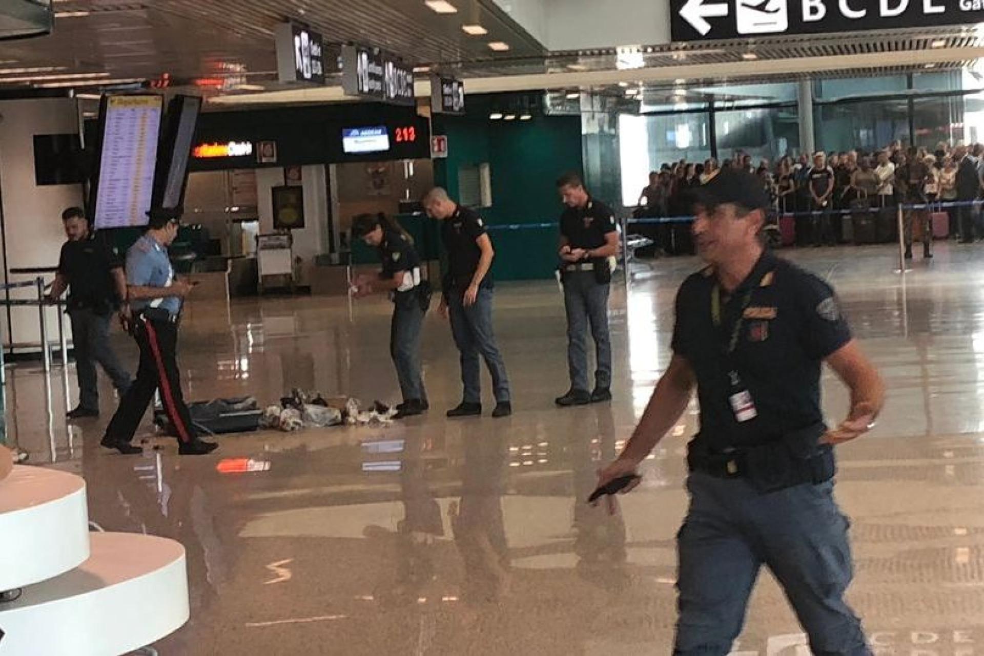 Autoridades explodem mala suspeita em aeroporto de Roma