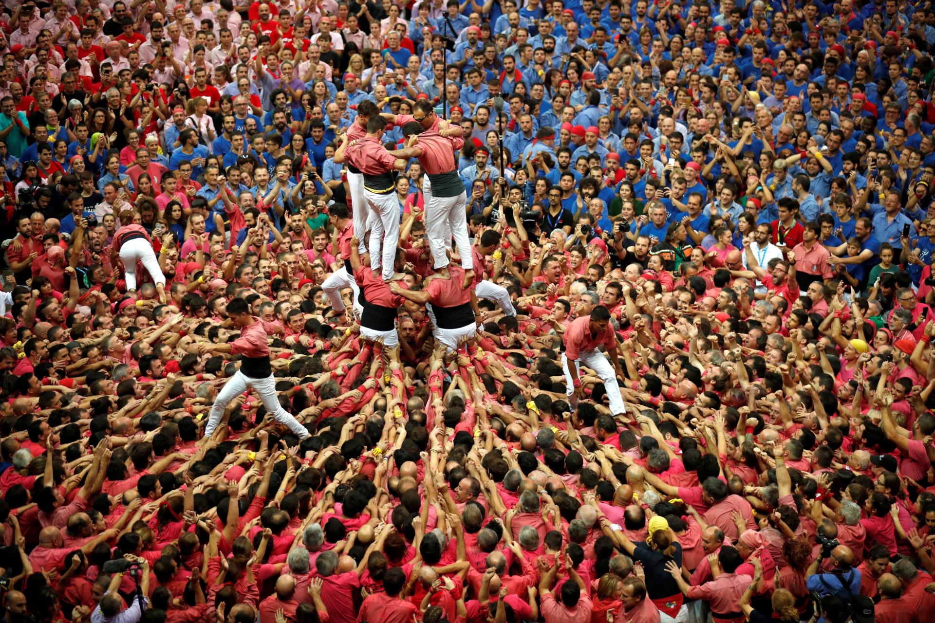 As torres humanas que chegam da Catalunha