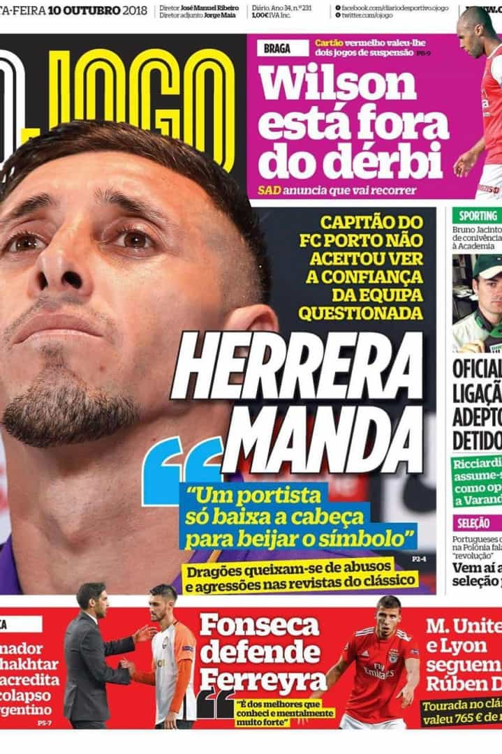 O cerco apertado para BdC, Ferreyra lesionado e a garantia de Herrera
