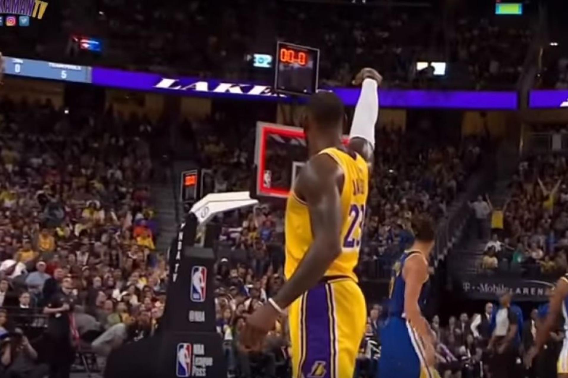 A NBA ainda não começou e LeBron James já faz disto