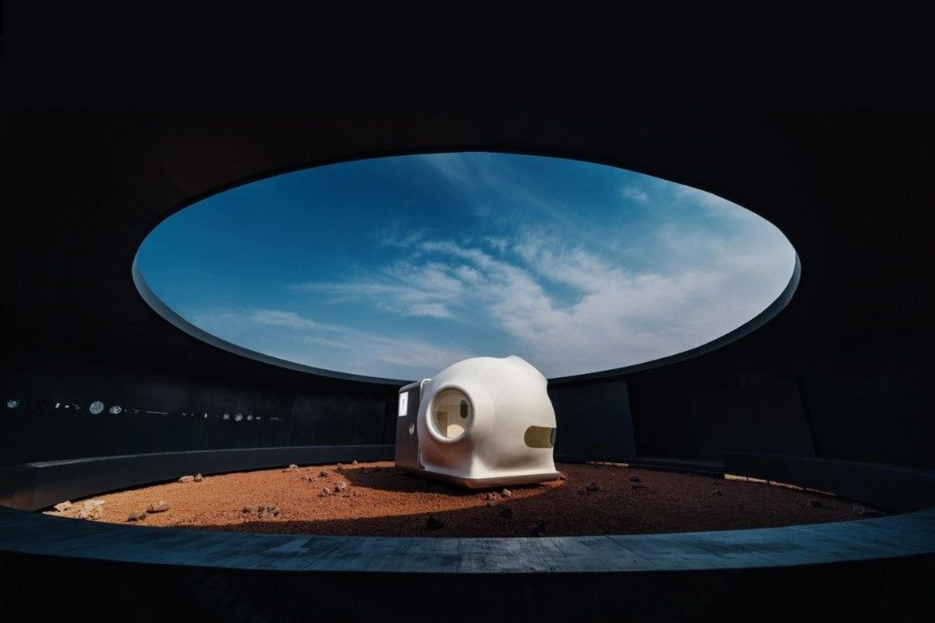 Será esta casa minimalista a casa do futuro em Marte?