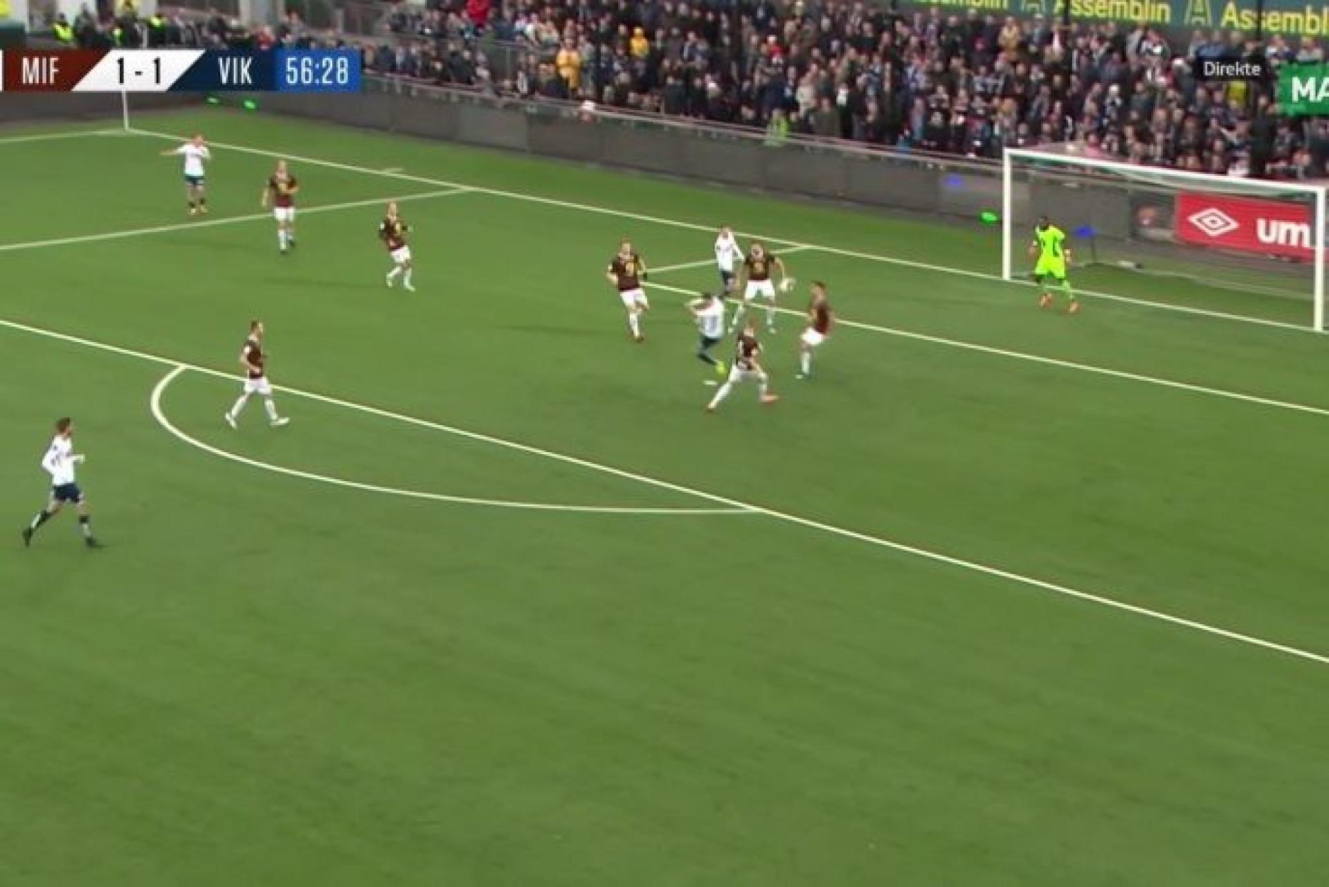 Messi ou CR7 tentem fazer igual. Chega-nos uma 'obra de arte' da Noruega