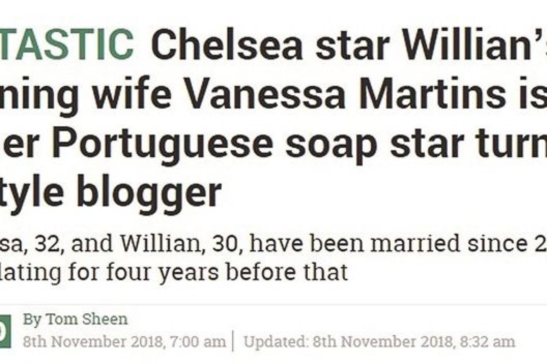 Ups! Vanessa Martins é confundida com mulher de jogador de futebol