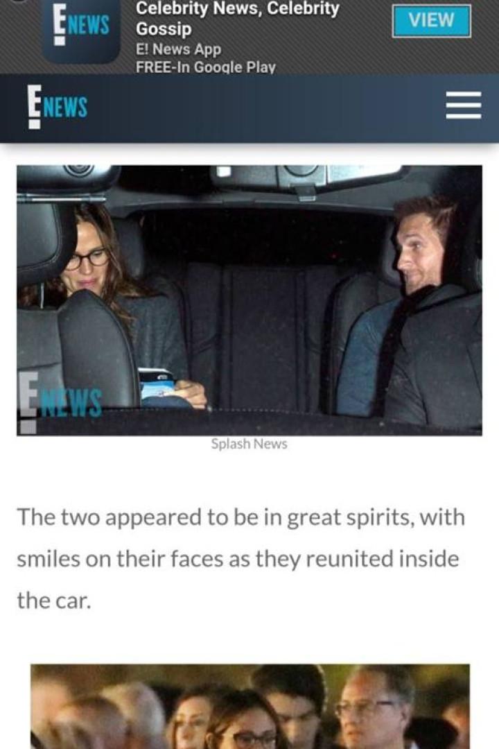 Jennifer Garner vista pela primeira vez com novo amor