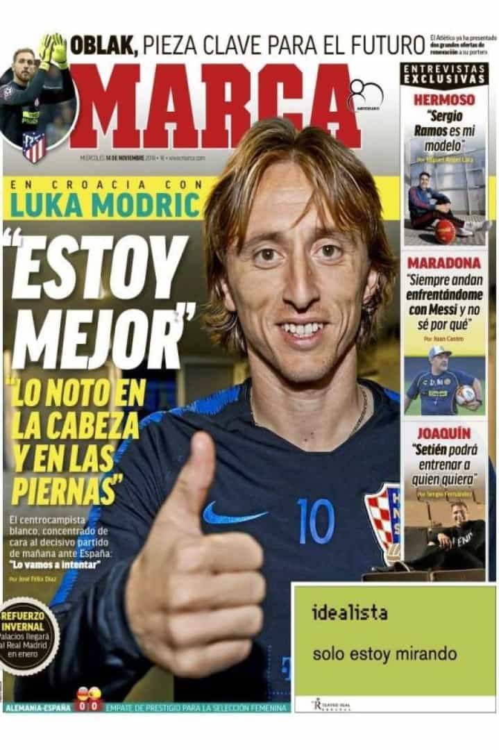 Imprensa internacional: Modric no topo do mundo e Barça no mercado