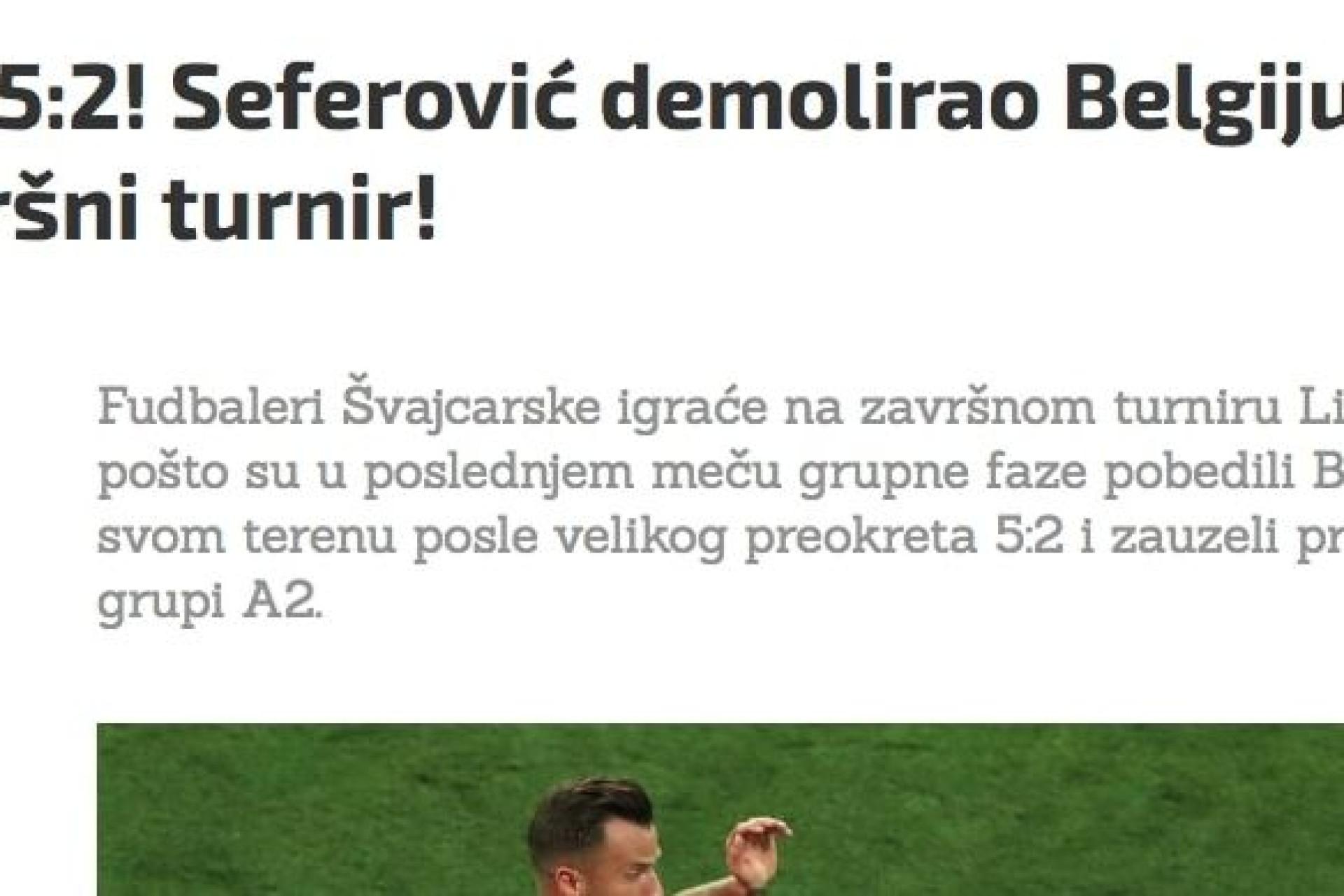 Seferovic é o pior 'diabo' dos belgas e está nas bocas do mundo