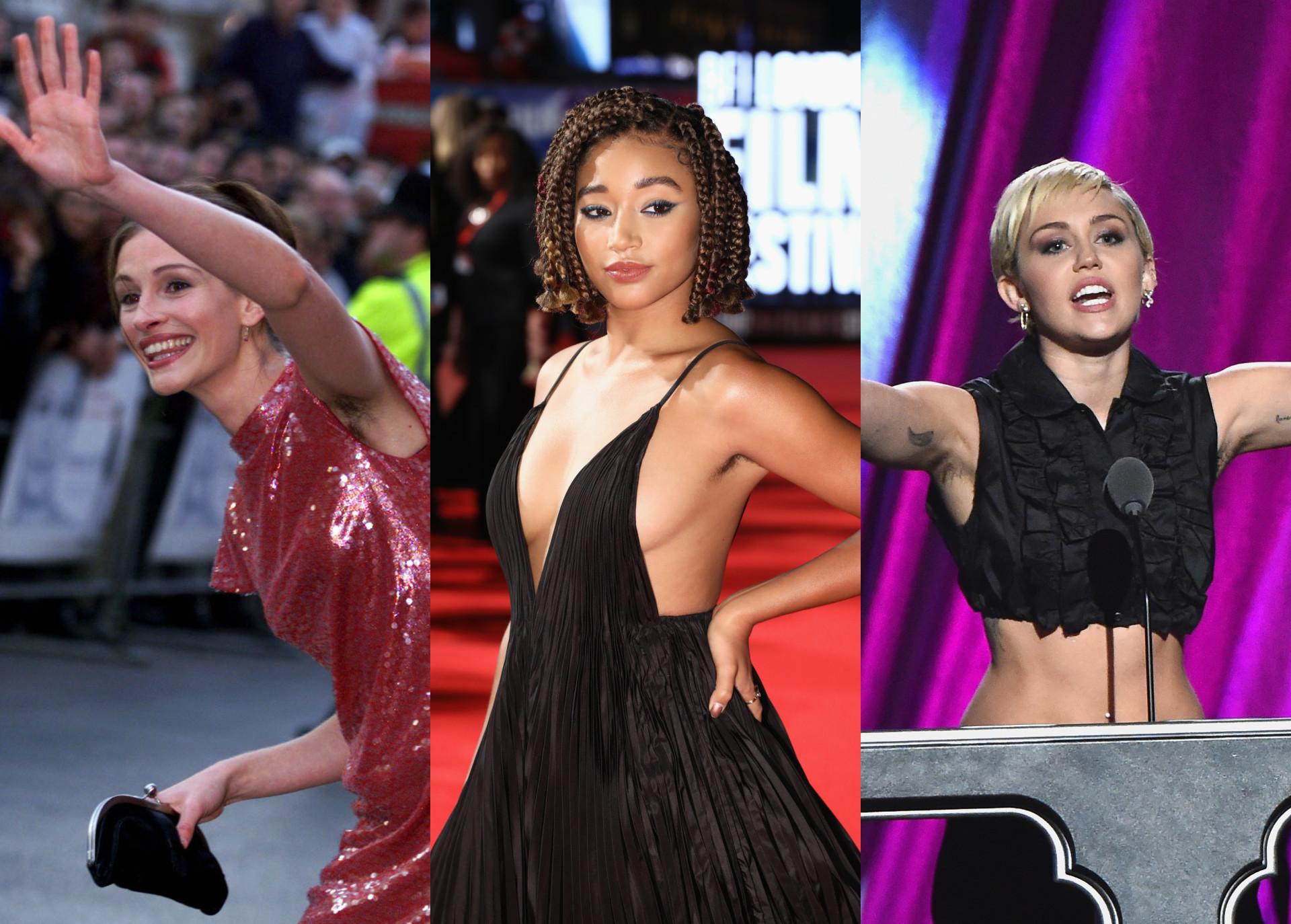 As famosas que não têm problemas com os pelos das axilas