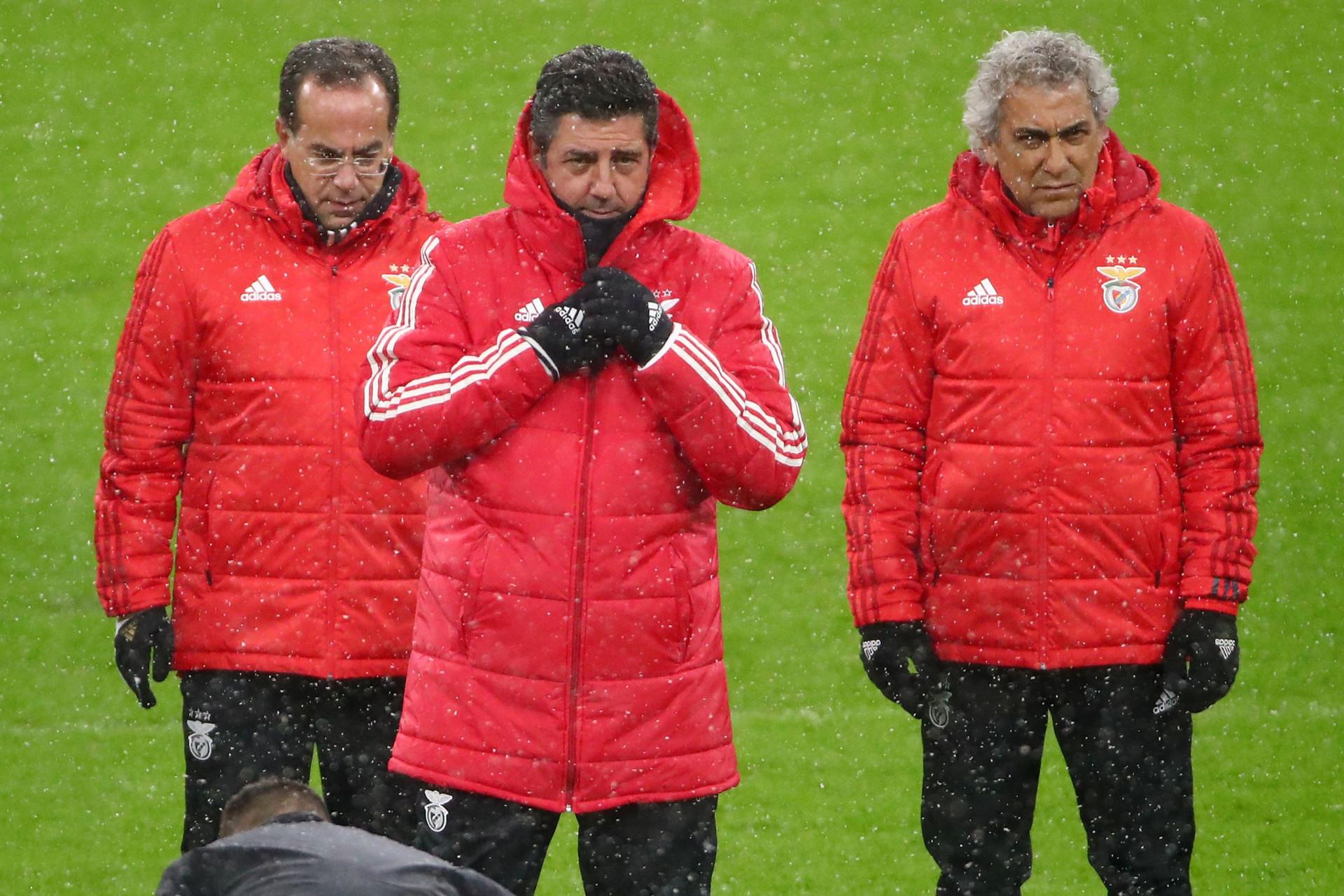 Neve, frio e... (muita) ambição: Assim foi o treino do Benfica em Munique