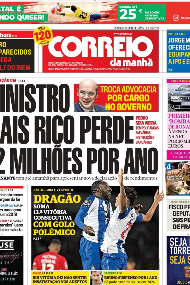 Hoje é notícia: Acidente no INEM e 1,2 milhões de Pedro Siza Vieira