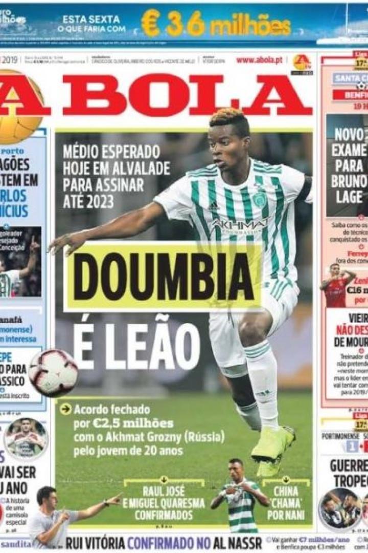 Por cá: Titularidade para Félix e a chegada de (outro) Doumbia