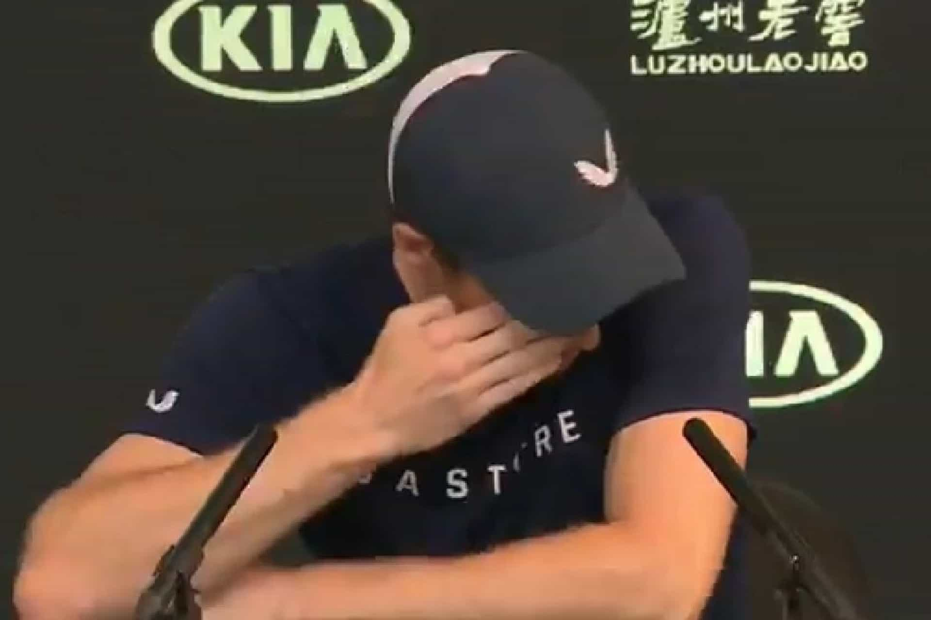 As lágrimas de Andy Murray no momento da despedida