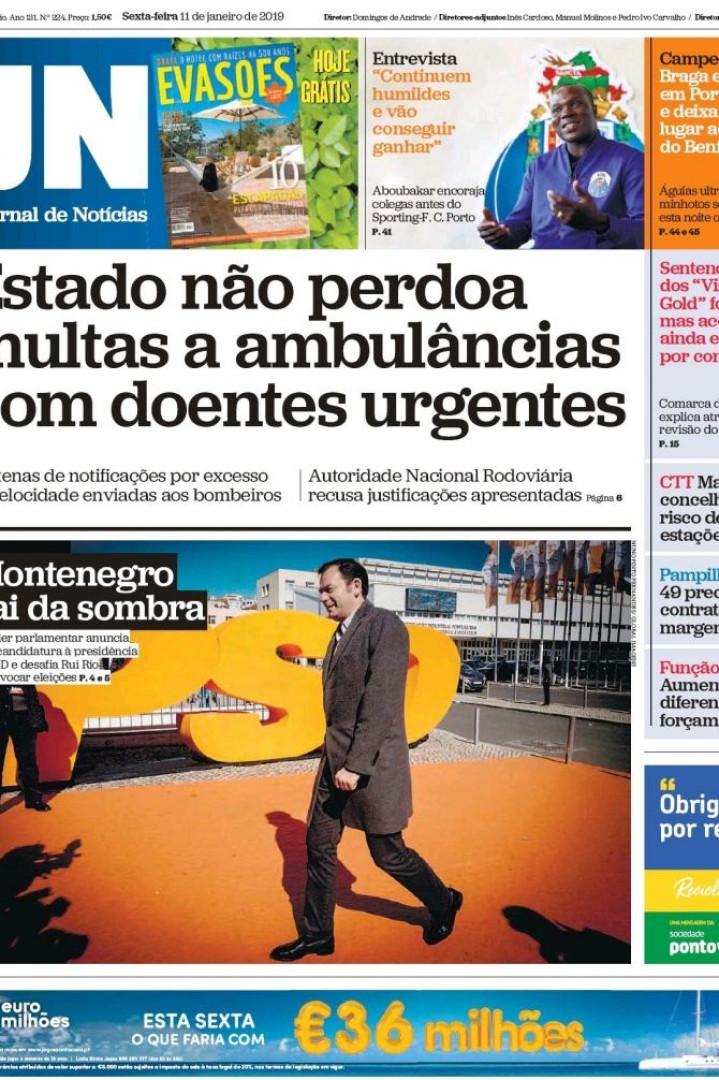 Hoje é notícia: Ambulâncias sem perdão; Cartas de Rosa Grilo vigiadas