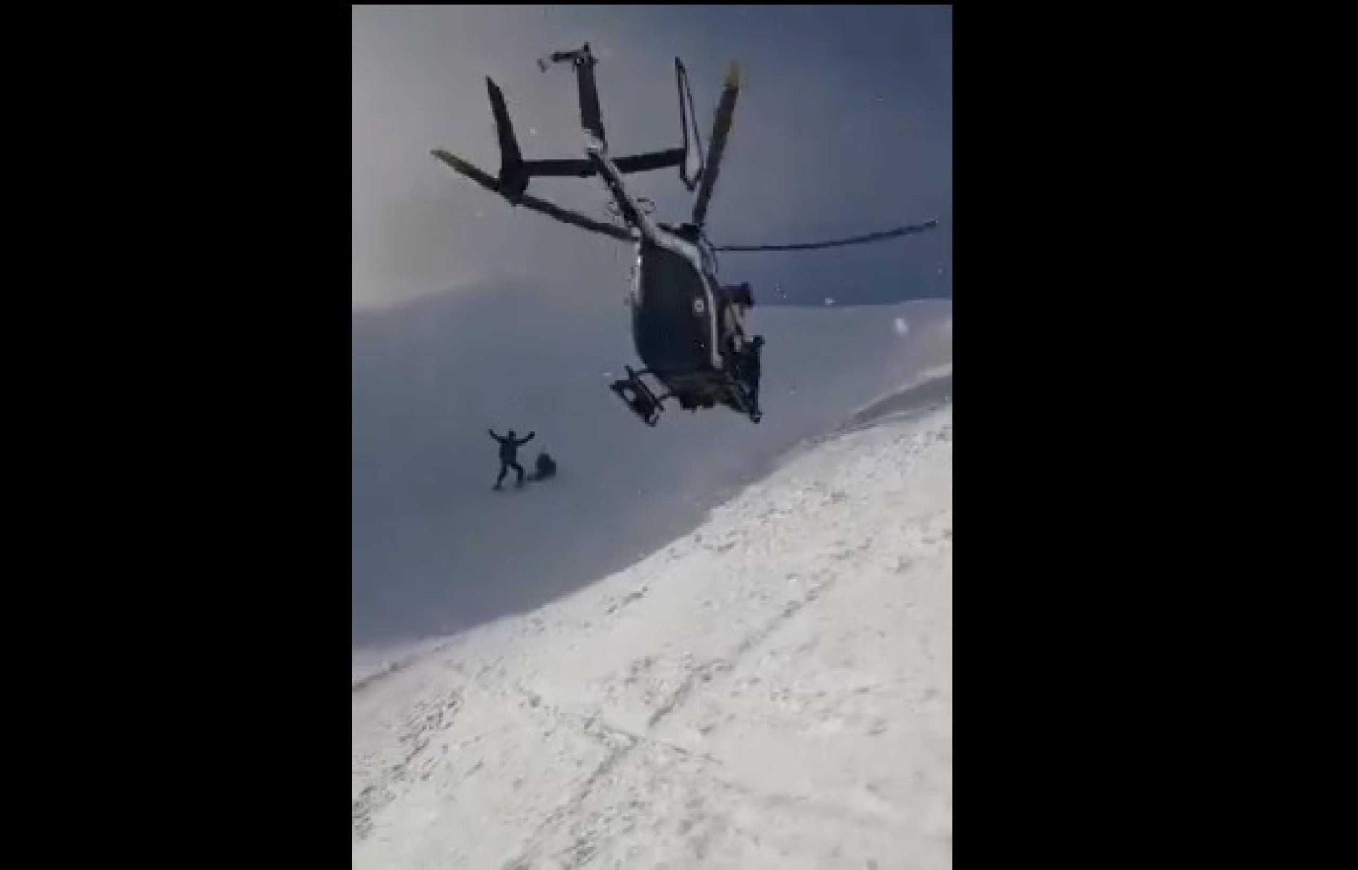Piloto de helicóptero torna-se protagonista de resgate nos Alpes