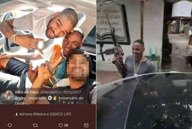 Adriano volta a aparecer em foto com traficante