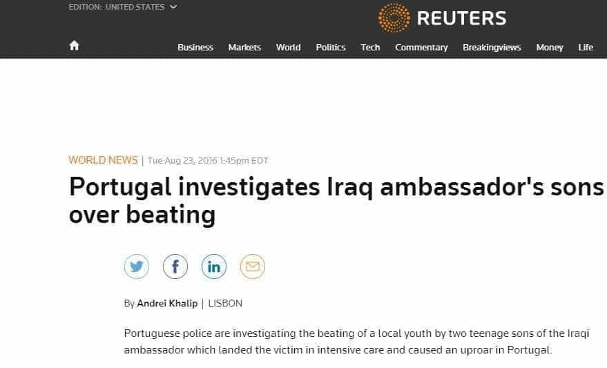 Caso da agressão dos gémeos iraquianos corre o mundo