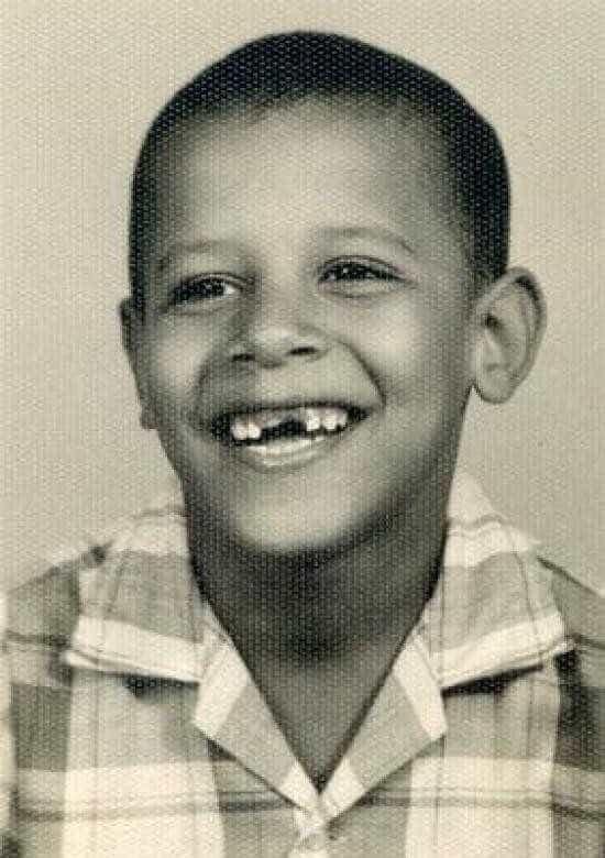 Veja as fotografias de Barack Obama em Criança -