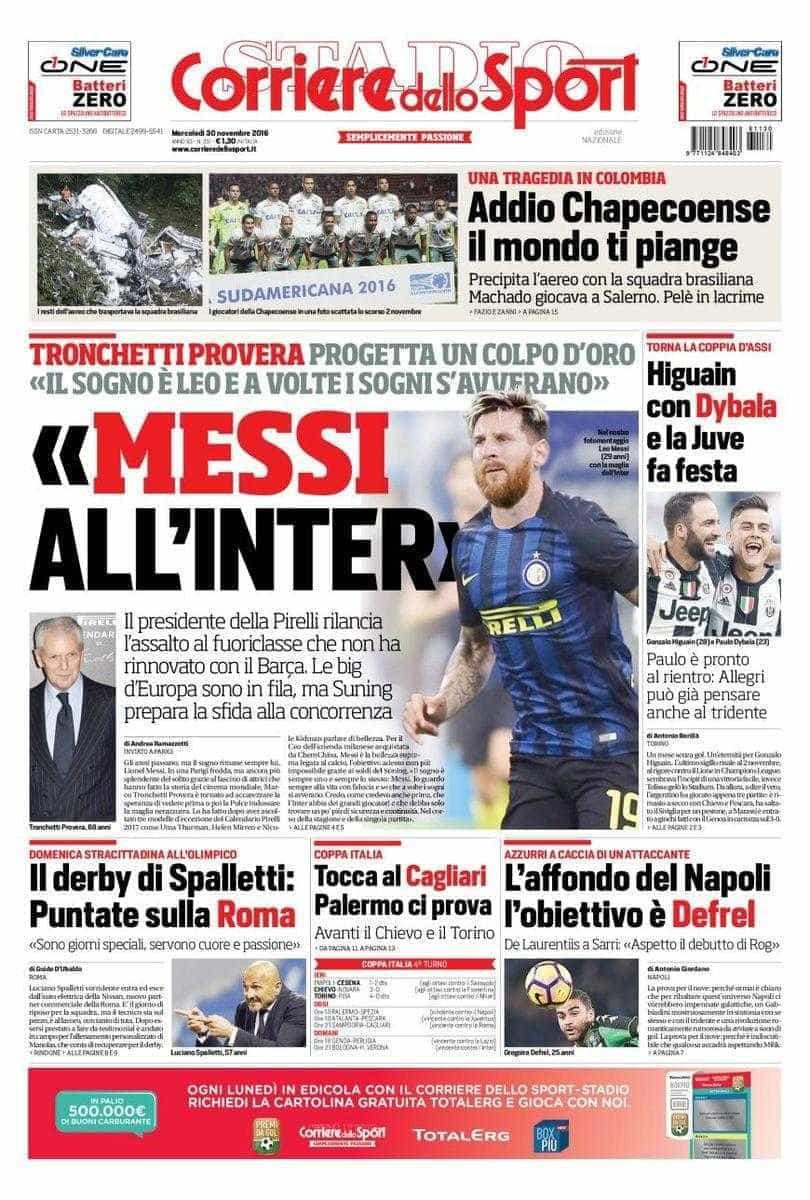 Presidente da Pirelli quer ver Messi no Inter de Milão