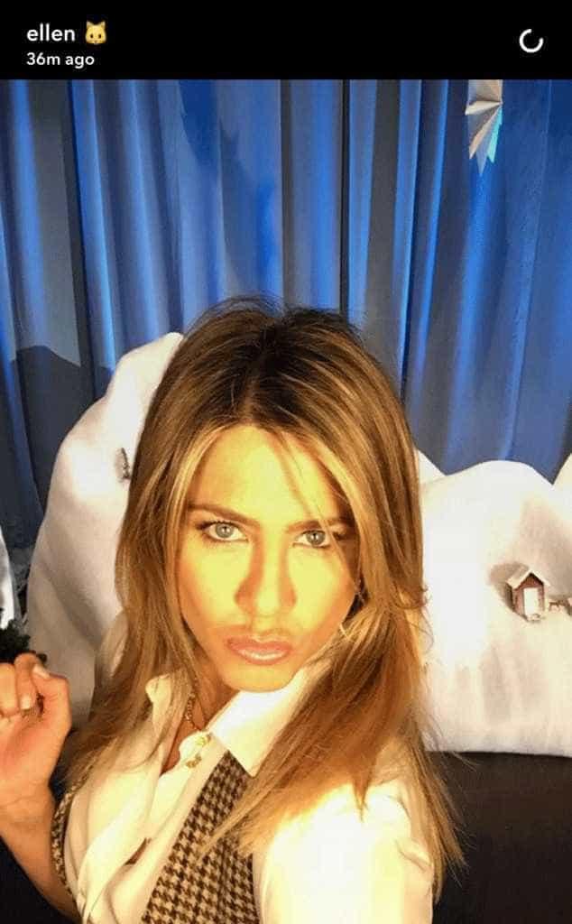Jennifer Aniston estreia-se no Snapchat -