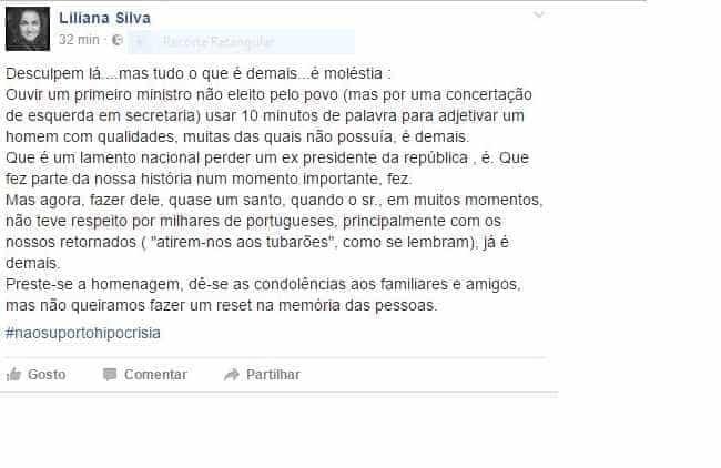 Publicação de presidente do PSD Caminha sobre Mário Soares indigna PS