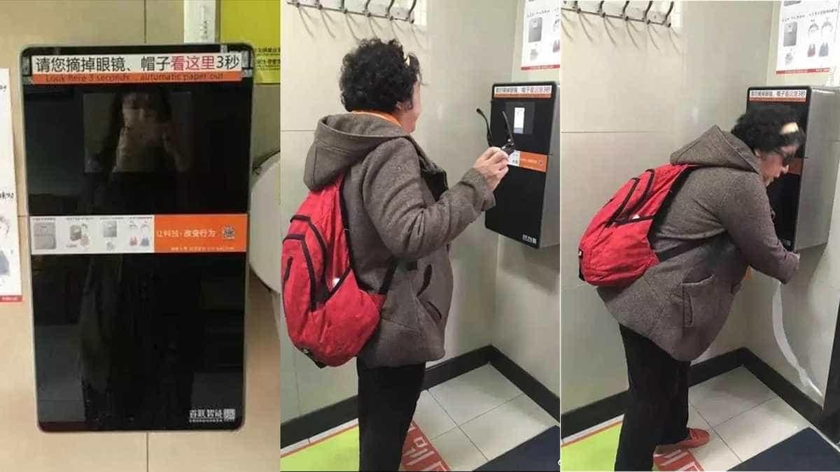 China usa reconhecimento facial para acabar com roubo de papel higiénico
